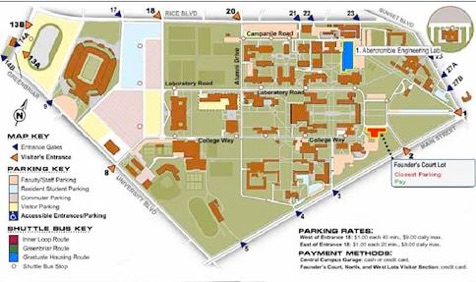 Rice campus map