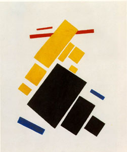 Malevich airplane flying