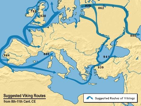 viking invasion map