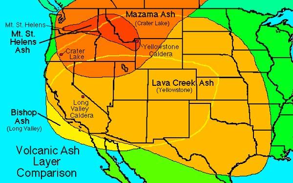 Volcanoimages - Mt st helens on us map