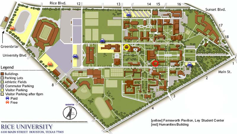 Rice University Map CSDL 2002 Home Page, Rice University, Houston TX Rice University Map